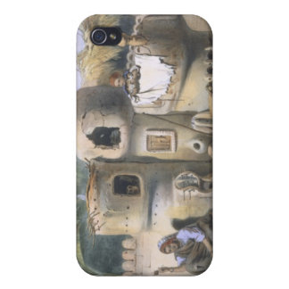 Peasant Dwellings in Upper Egypt, illustration fro iPhone 4 Cover