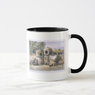 Peasant Dwellings in Upper Egypt, illustration fro Mug