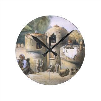 Peasant Dwellings in Upper Egypt, illustration fro Wallclock