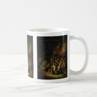 Peasant Family In The Room By Ostade Adriaen Van Coffee Mugs