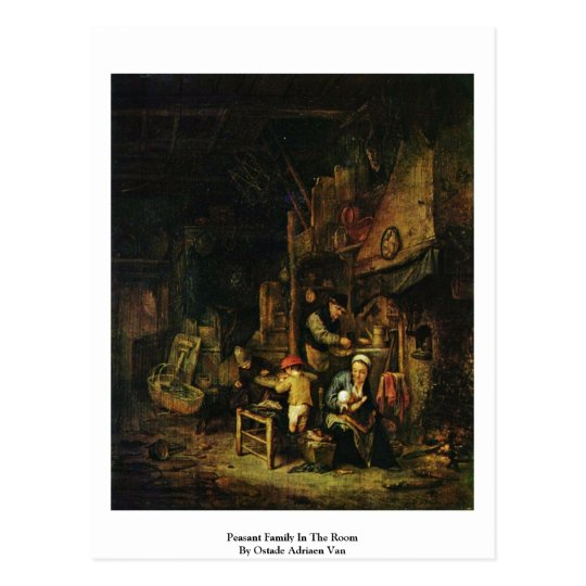 Peasant Family In The Room By Ostade Adriaen