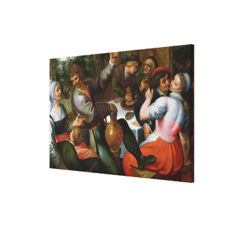 Peasant Feast, 1566 Stretched Canvas Prints