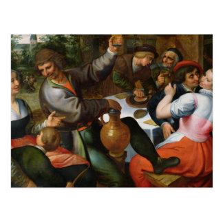 Peasant Feast, 1566 Postcard