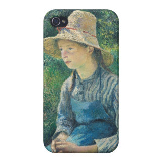 Peasant Girl with a Straw Hat, 1881 iPhone 4/4S Cases