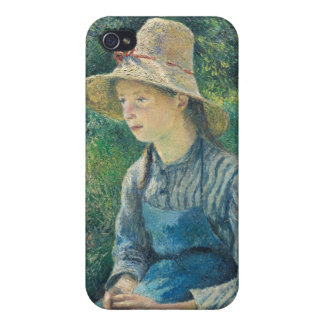 Peasant Girl with a Straw Hat, 1881 iPhone 4/4S Covers