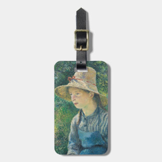 Peasant Girl with a Straw Hat, 1881 Luggage Tag