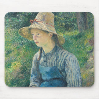 Peasant Girl with a Straw Hat, 1881 Mouse Mat