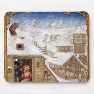 Peasant Life, from 'Breviarium Grimani' Mouse Mat
