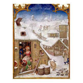 Peasant Life, from 'Breviarium Grimani' Postcard