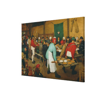 Peasant Wedding , 1568 Stretched Canvas Print