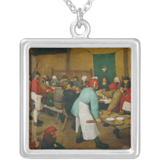Peasant Wedding , 1568 Silver Plated Necklace