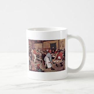 Peasant Wedding By Bruegel D. Ä. Pieter Basic White Mug