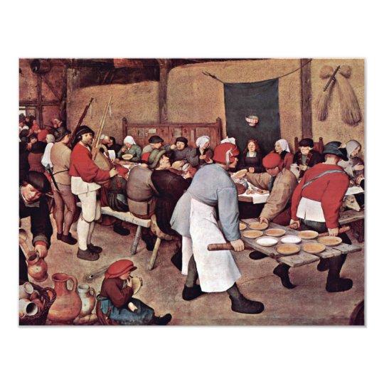 Peasant Wedding By Bruegel D. Ä. Pieter Card