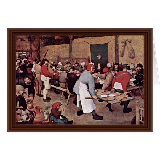 Peasant Wedding By Bruegel D. Ä. Pieter Card