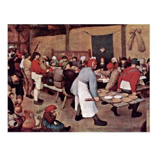 Peasant Wedding By Bruegel D. Ä. Pieter Postcards