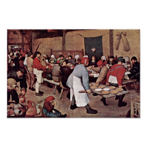 Peasant Wedding By Bruegel D. Ä. Pieter Print