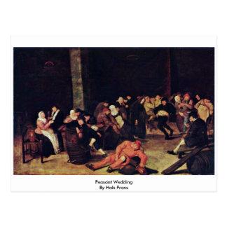 Peasant Wedding By Hals Frans Postcard