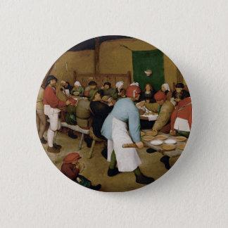 Peasant Wedding by Pieter Bruegel the Elder 6 Cm Round Badge