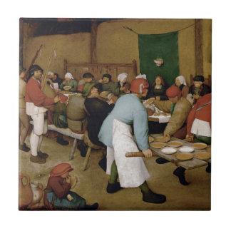Peasant Wedding by Pieter Bruegel the Elder Tile