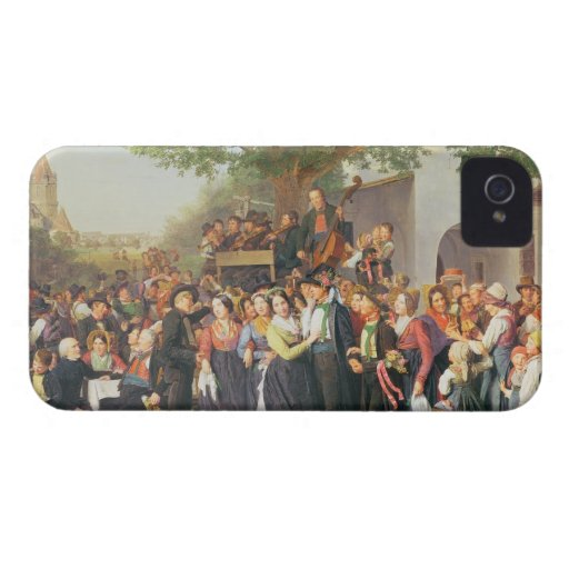 Peasant Wedding in Lower Austria (oil on canvas) Case-Mate iPhone 4 Cases