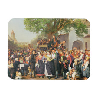 Peasant Wedding in Lower Austria (oil on canvas) Magnets