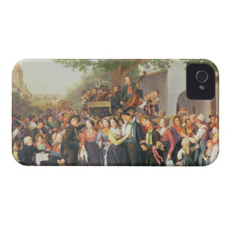 Peasant Wedding in Lower Austria (oil on canvas) iPhone 4 Case-Mate Case