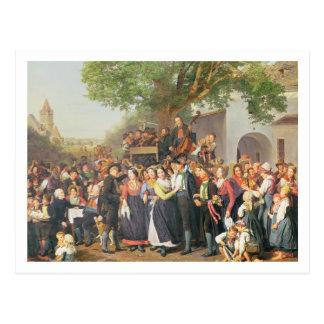 Peasant Wedding in Lower Austria (oil on canvas) Postcard