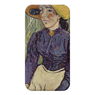 Peasant Woman Against Background of Wheat Van Gogh iPhone 4/4S Cases