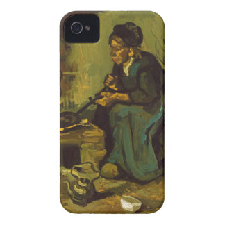 Peasant Woman Cooking by a Fireplace by Van Gogh iPhone 4 Covers