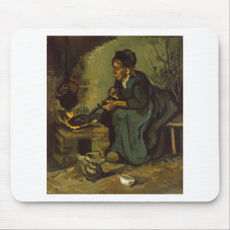 Peasant_Woman_Cooking_by_a_Fireplace jpeg Mousepads