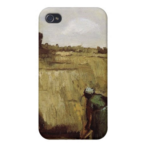 Peasant Woman Digging in Front of Her Cottage  Vin iPhone 4 Cases
