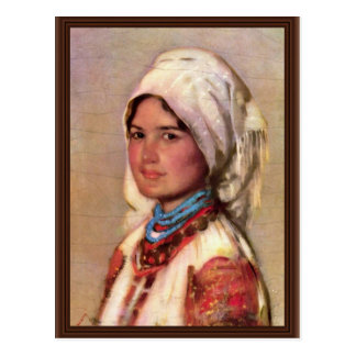 Peasant Woman From Muscel By Grigorescu Nicolae Postcard