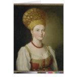 Peasant Woman in Russian Costume, 1784 Greeting Card