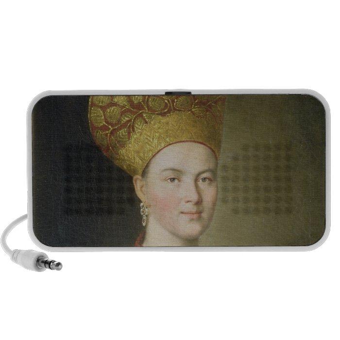 Peasant Woman in Russian Costume, 1784 Portable Speakers