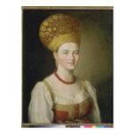 Peasant Woman in Russian Costume, 1784 Postcard