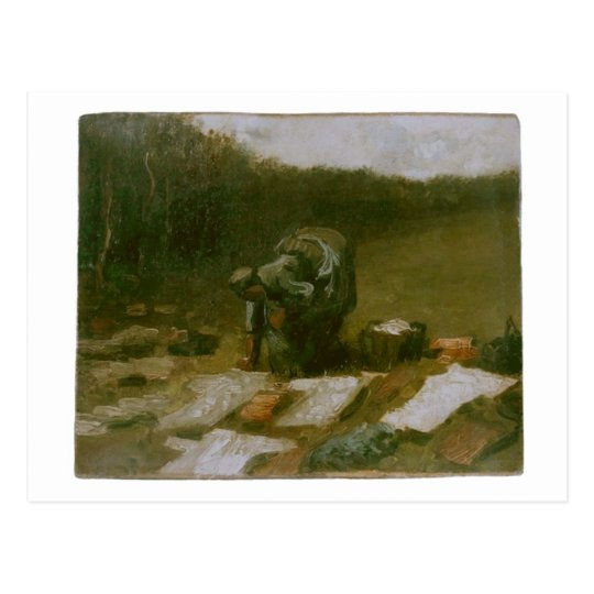 Peasant Woman Laundering, Vincent van Gogh Postcard