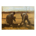Peasant Woman Planting Potatoes; Vincent van Gogh Greeting Card