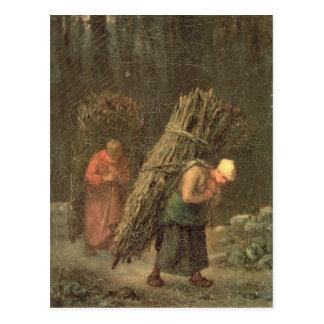 Peasant Women with Brushwood, c.1858 Postcard