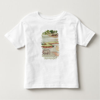 Peasant working in the paddy fields toddler T-Shirt