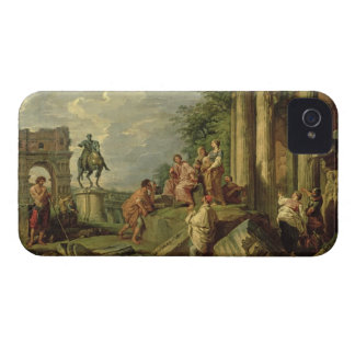 Peasants Amongst Roman Ruins, 1743 (oil on canvas) iPhone 4 Cases