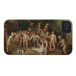 Peasants Brawling Outside a Tavern (oil on panel) iPhone 4 Covers