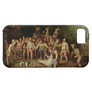 Peasants Brawling Outside a Tavern (oil on panel) Tough iPhone 5 Case