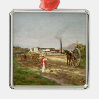 Peasants Collecting Sugar Cane Christmas Ornament