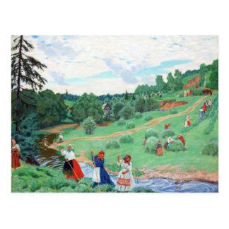 Peasants in a Field Postcard