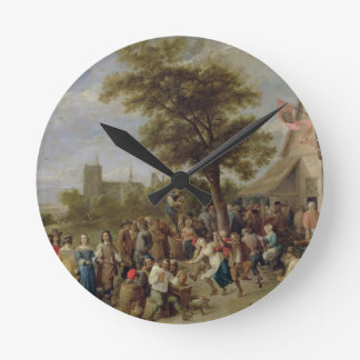 Peasants Merry-Making, c.1650 (oil on canvas) Clock