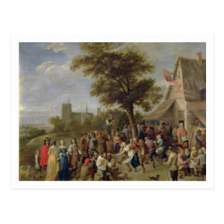 Peasants Merry-Making, c.1650 (oil on canvas) Postcard