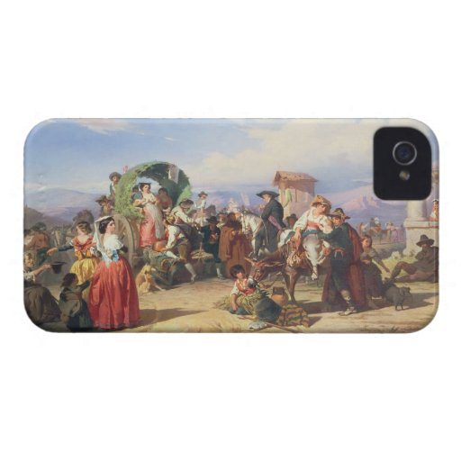 Peasants of the Campagna, 1860 (oil on canvas) iPhone 4 Cases