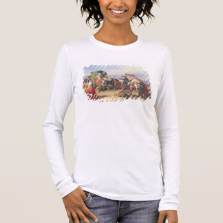 Peasants of the Campagna, 1860 (oil on canvas) Long Sleeve T-Shirt