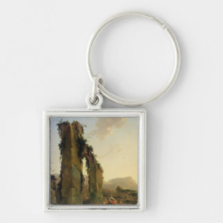 Peasants with Cattle by a Ruined Aqueduct Key Chains
