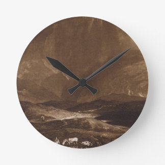 Peat Bog, Scotland, engraved by George Clint (1770 Round Clock